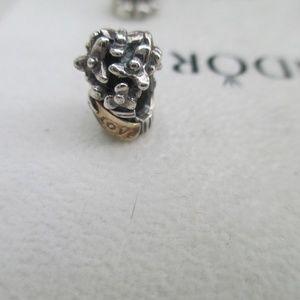 Pandora Love Bouquet Flowers Charm 790441 14k 925